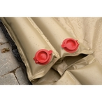 10 Double Water Bag 2-Valve Double Chamber Tan