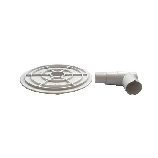 """Right Fit  Above Ground Skimmer Vacuum Plate Adapter With Elbow 1.25""""-1.5"""""""
