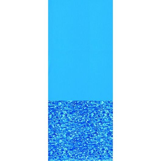 Overlap 18' Round Solid Blue 48/52 in. Depth Above Ground Pool Liner, 20 Mil