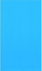 Overlap 30' Round Solid Blue 48/52 in. Depth Above Ground Pool Liner, 20 Mil