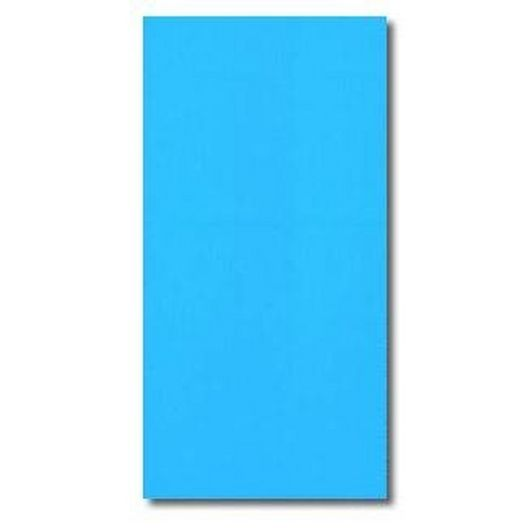 Overlap 12' x 24' Oval Solid Blue 48/52in. Depth Above Ground Pool Liner, 20 Mil