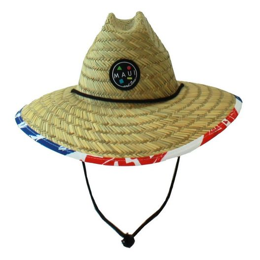 Maui and Sons - Merica Straw Hat - 75058