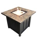 AZ Patio Heaters - Square Tile Propane Fire Pit, 40K BTU - 75084