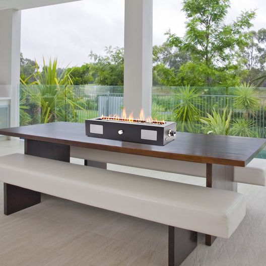 Ukiah  Cascade 28in Tabletop Fire pit with Sound System