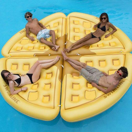 Swimline  Inflatable Waffle Slice Pool Float