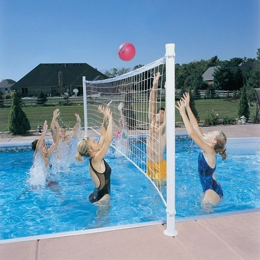 Dunn-Rite Products - DMV300 Provolly Regulation Size Pool Volleyball Set - Anchors Not Included - 76080