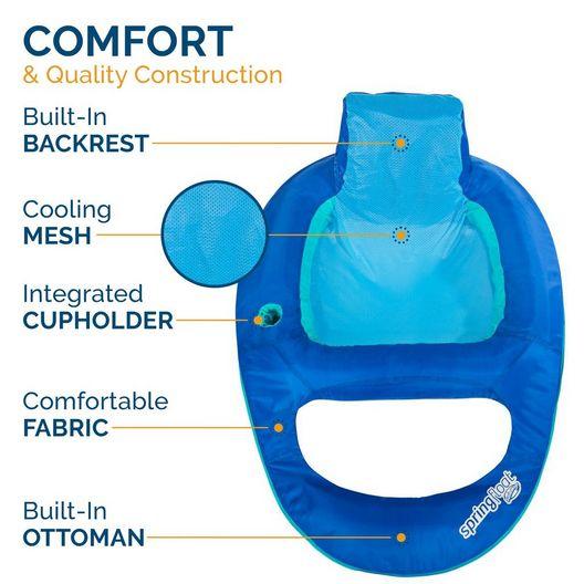 Swimways  Spring Float Recliner Blue