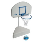 Poola Hoops Poolside Basketball Game with Ball and Net