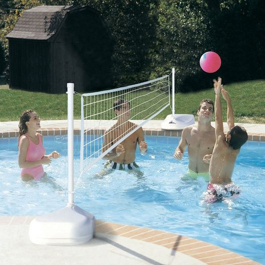 Dunn-Rite Products  H2O Hoops Poolside Basketball and Volleyball Game Set