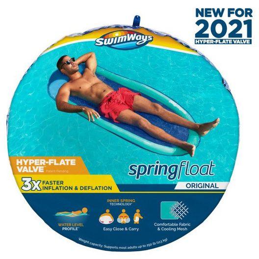 Swimways  Spring Float Solid Aqua