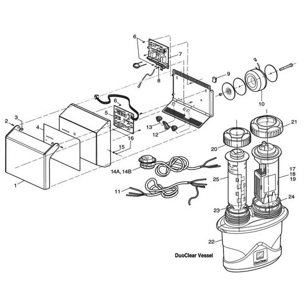 Zodiac Nature2 Duoclear Sanitizer Feeder Salt Chlorine Generators image