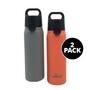 24 oz Flip Top Water Bottle, 2-Pack