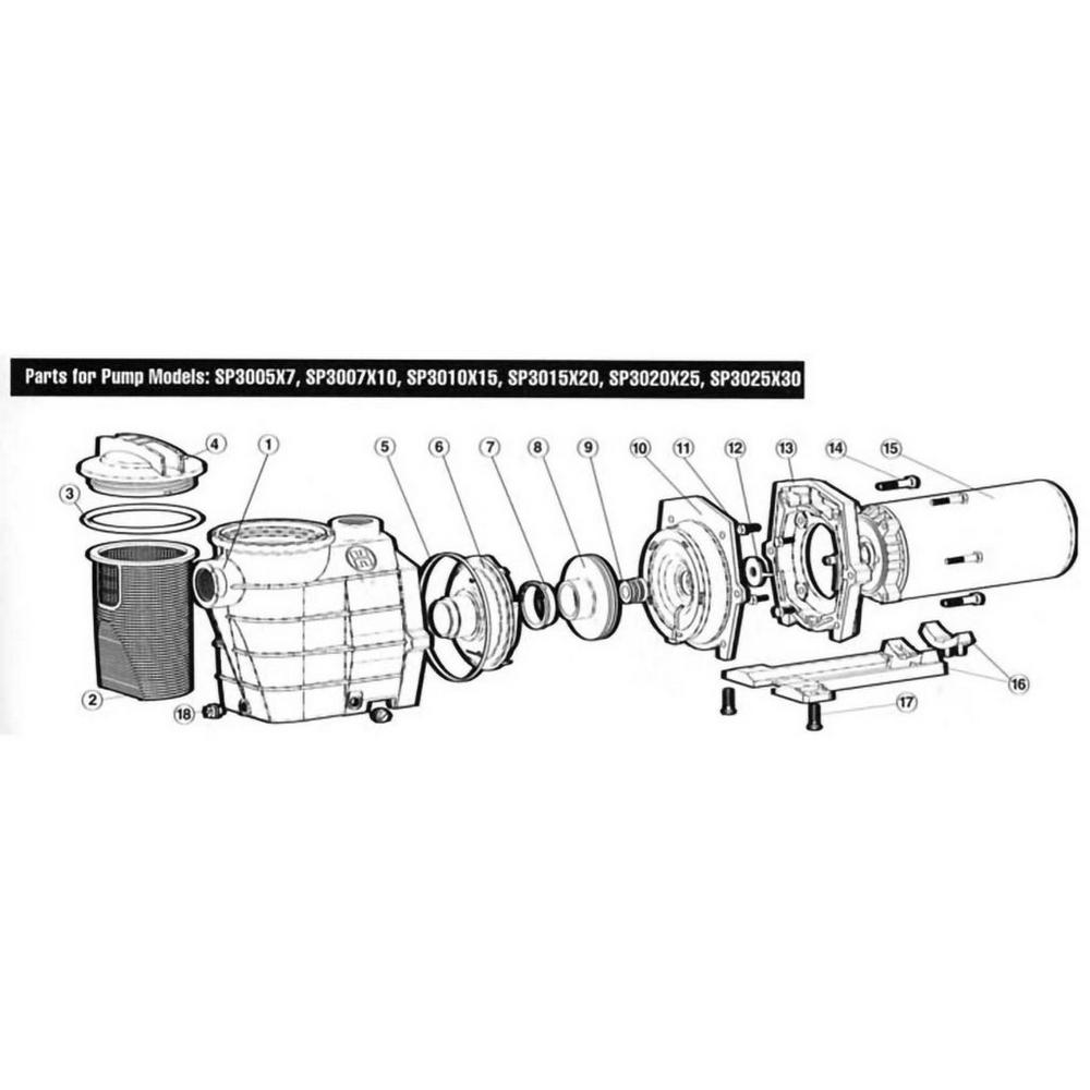 Hayward Super II Series Super II SP3000X Max-Rated Pump image