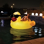 LED Solar Light-Up Inflatable Pool Float