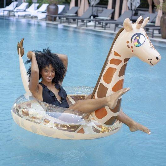 Glitter Giraffe Jumbo Pool Tube