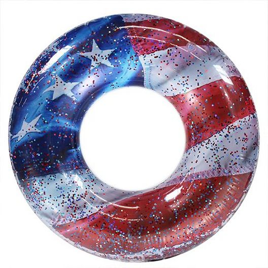 Pool Candy  US2048US Stars and Stripes Inflatable Tube 48 inch