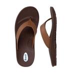 Okabashi - Flip Flops Mariner Brown/Toffee, Men's 2x Large - 79017