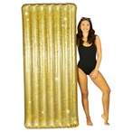 "PC4401GG Deluxe 74"" Extra Wide Gold Pool Raft"