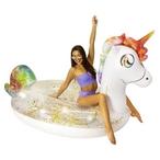 Pool Candy  Gigantic Glitter Unicorn Float Raft