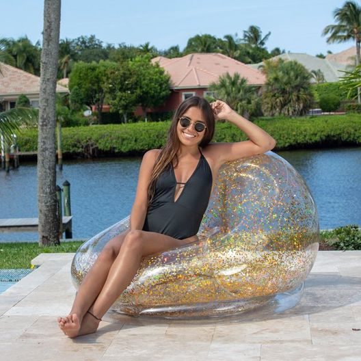 AC3020GG AirCandy Gold Inflatable Glitter Pool Chair