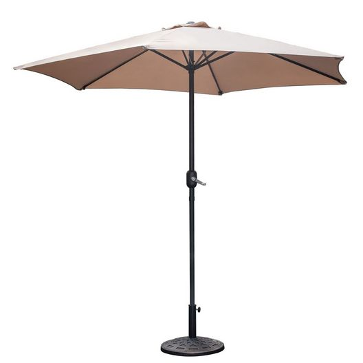 Westbay - 9 ft. Steel Umbrella - Khaki - 79616