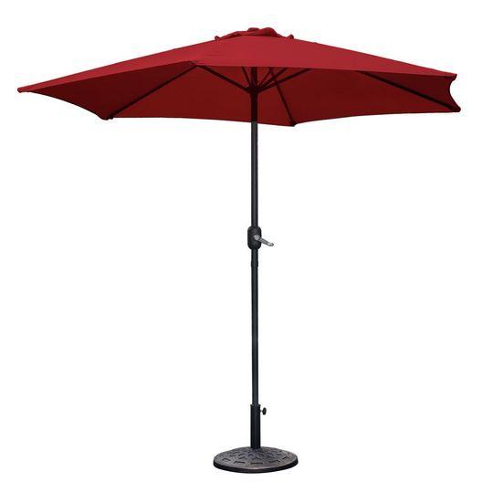 Westbay - 9 ft. Steel Umbrella - Maroon - 79617