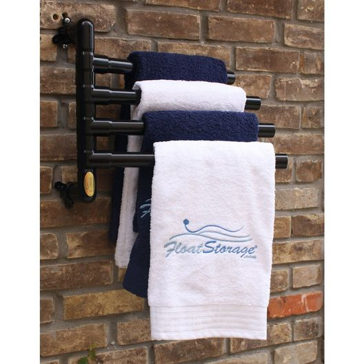 Hanging Towel Rack, Black - 4 Towels