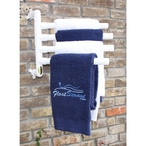 Hanging Towel Rack, White - 4 Towels