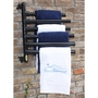 Hanging Towel Rack, Black - 6 Towels
