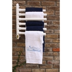 Hanging Towel Rack, White - 6 Towels