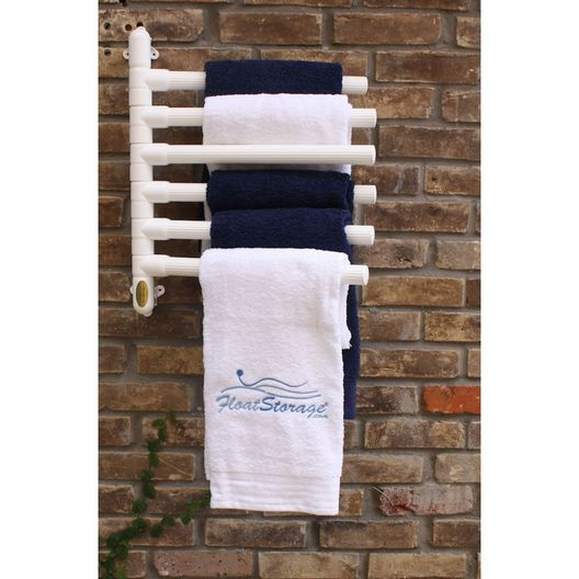 Float Storage - Hanging Towel Rack, White - 6 Towels - 79819