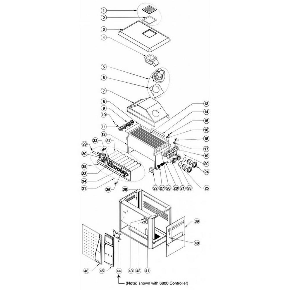 Pentair Heater MiniMax NT Series MiniMax NT TSI: w/6800 Controller image