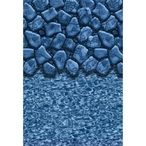 Unibead 18' Round Boulder Swirl 48 in. Depth Above Ground Pool Liner, 20 Mil