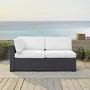 Biscayne Loveseat with White Cushions