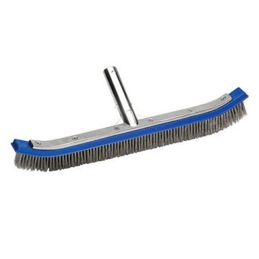 "18"" Stainless Steel Wall & Floor Brush for Plaster Pools - 82504"