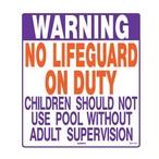 Texas State Pool Warning Sign