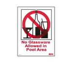 National Stock Sign  No Glassware  Sign