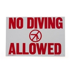 National Stock Sign - No Diving Allowed Sign - 82781