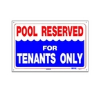National Stock Sign  Tenants Only  Sign