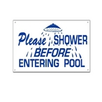 National Stock Sign  Please Shower Before Entering Pool  Sign