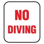 Single Tile Messages - No Diving - MASTER-NSKU19854NEW