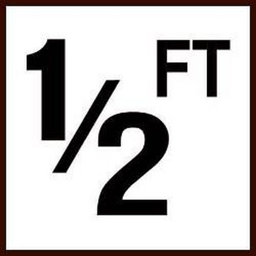 """Inlays  Ceramic Smooth 12 Ft Depth Marker for In-Ground Pool 6 x 6"""""""
