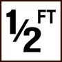 """Ceramic Smooth 12 Ft Depth Marker for In-Ground Pool 6"""" x 6"""""""