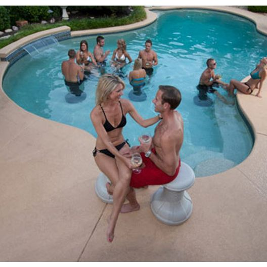 Envy  Underwater Pool Stool White
