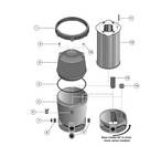 2 PLD Modular DE Filter Replacement Parts
