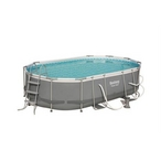 Power Steel 16 ft x 10 ft Oval Pool Set