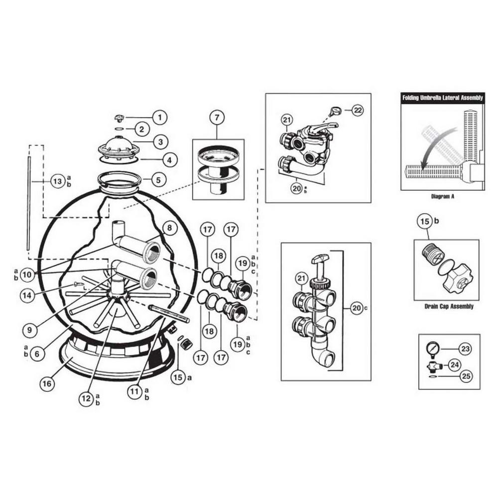 Pro Series Plus S311SX, S311SXV, S360SX Sand Filter Parts image
