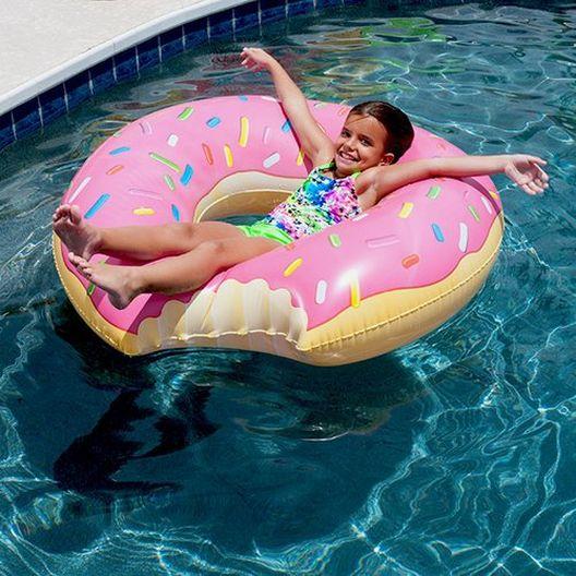 Chocolate Donut Gigantic Pool Float