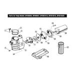 Hayward  Max-Flo Series SP2800X Max-Rated Pool Pump Parts