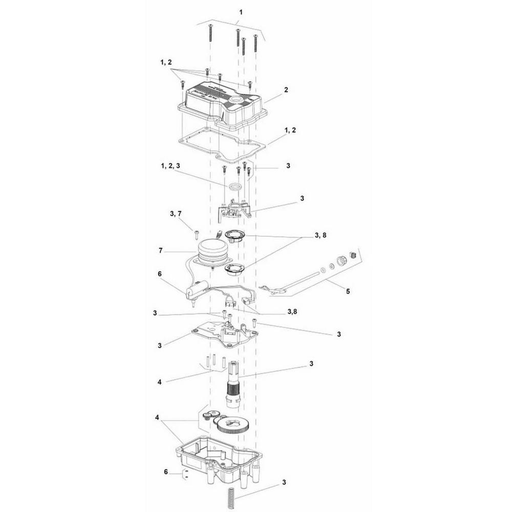 Jandy Ball & Diverter Valves Valve Actuator image